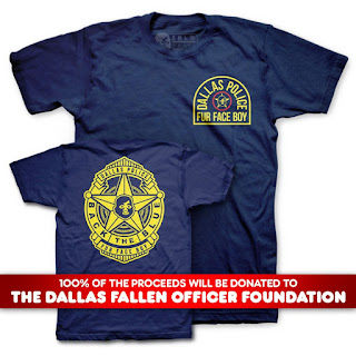 "Fur Face Boy ""F.F.B. D.P.D."" Dallas Police Department Fundraising T-Shirt"