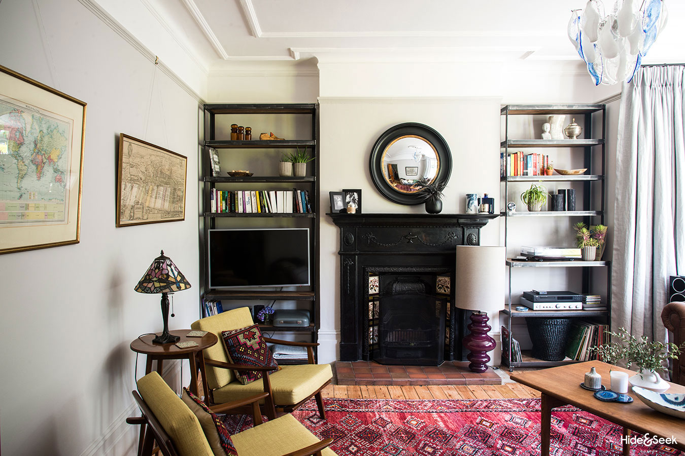 Before After An Eclectic Edwardian Living Room