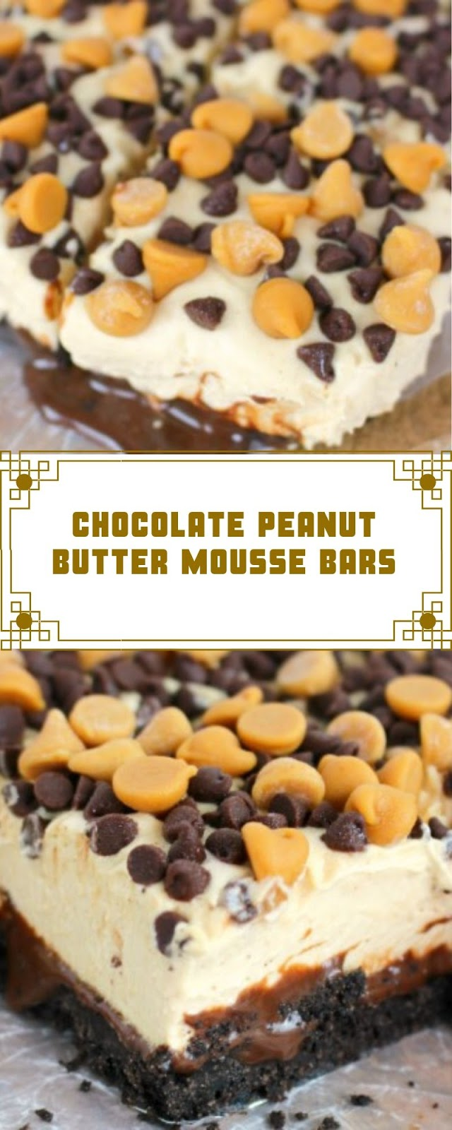 CHOCOLATE PEANUT BUTTER MOUSSE BARS