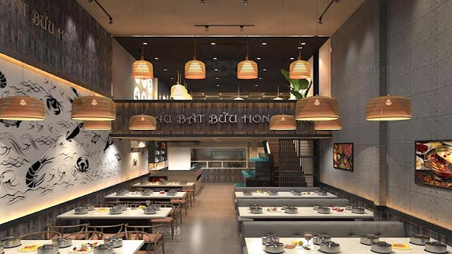 Lựa chọn màu sắc phù hợp với phong cách của nhà hàng rất quan trọng