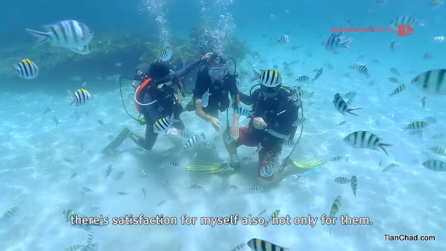 That proud moment for both the volunteer and people with disabilities when they able to enjoy the underwater together