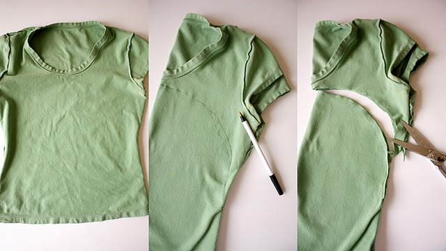 bolsas, reciclar, camiseta, manualidades, costura