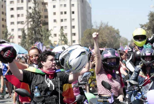 Motoristas se lucieron al final de la marcha