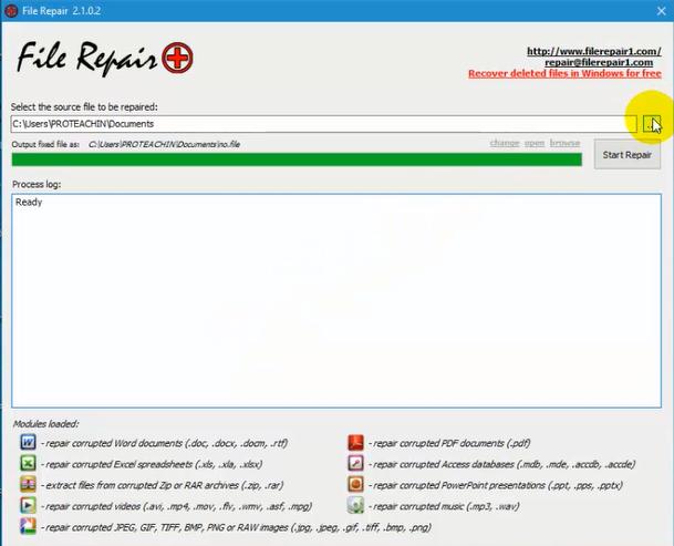 تحميل وتثبيت وشرح برنامج File Repair لحل مشكلة الملفات المتضررة