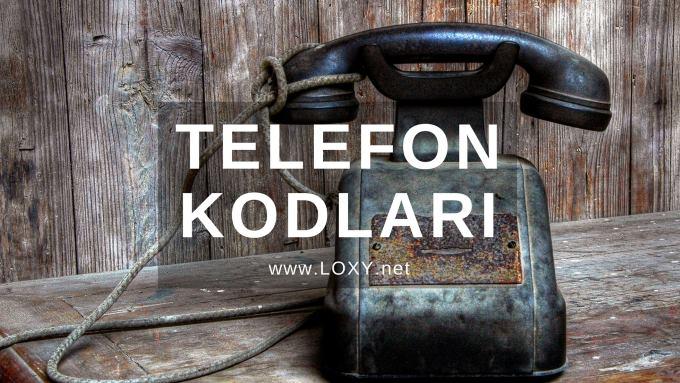 İl Telefon Kodları - Hangi Numara Nerenin Kodu