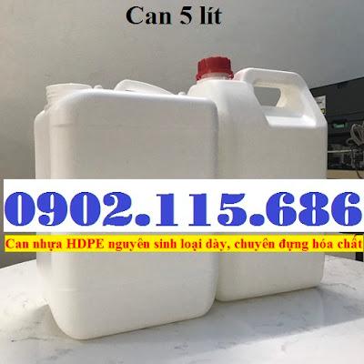 Bán can đựng hóa chất, can nhựa 5 lít, can 5 lít đựng hóa chất, vỏ can nhựa 5 lít, 2