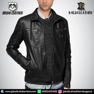 Jual Jaket Kulit Asli Garut Pria Domba Original Brida Leather B79 | WA 08813430588