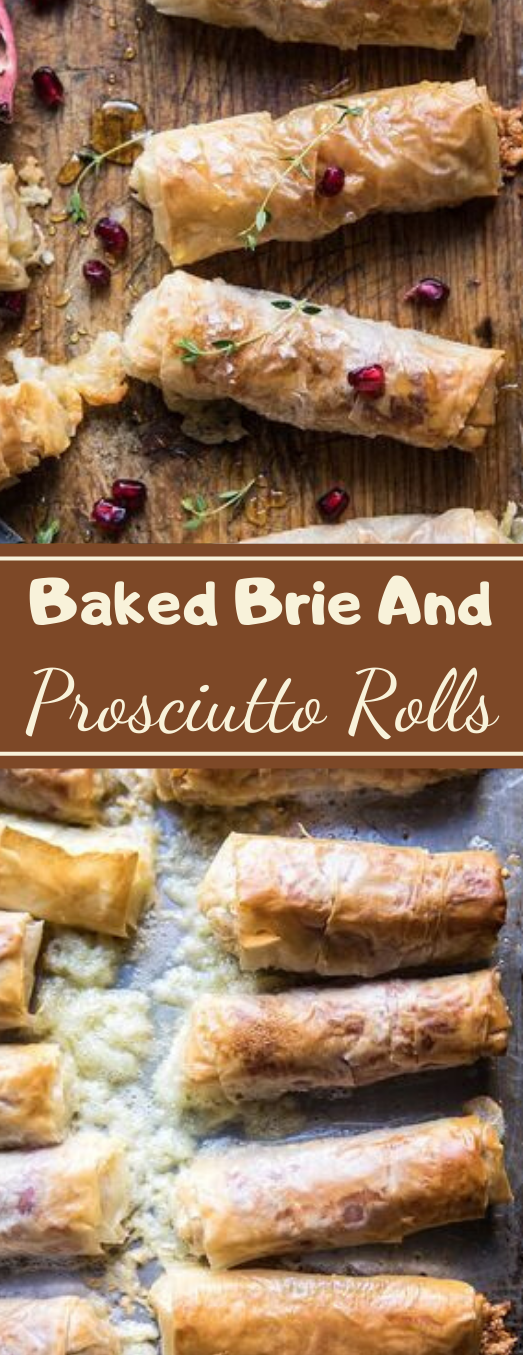 Baked Brie And Prosciutto Rolls #dinner #baked #rolls #easy #recipes