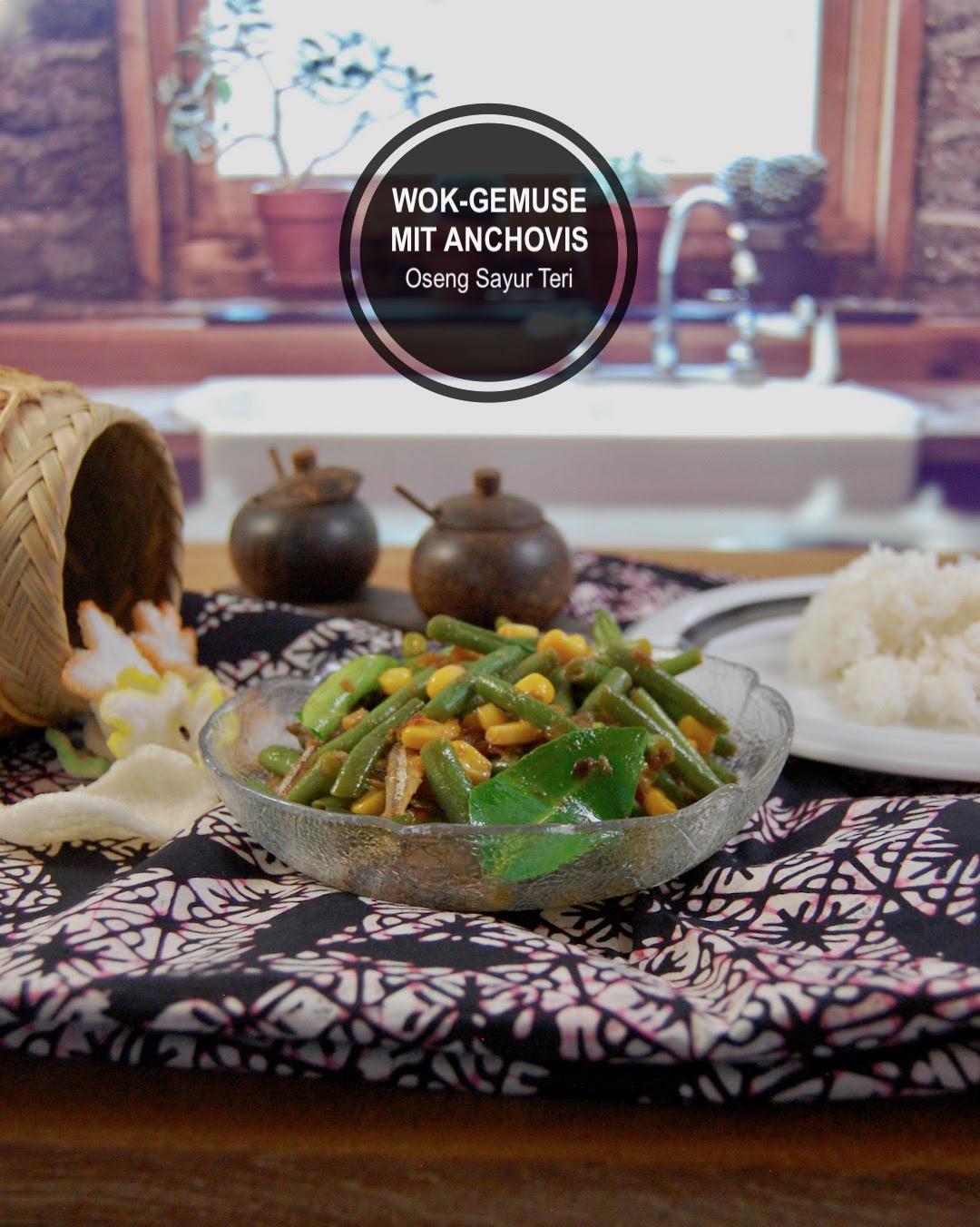 Rezept Wok-Gemüse mit Anchovis (Balinesisch Oseng Sayur Teri)