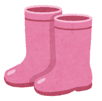 長靴のイラスト(ピンク)