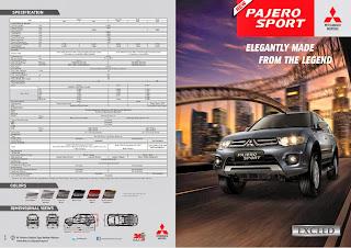 brosur pajero exceed 2013