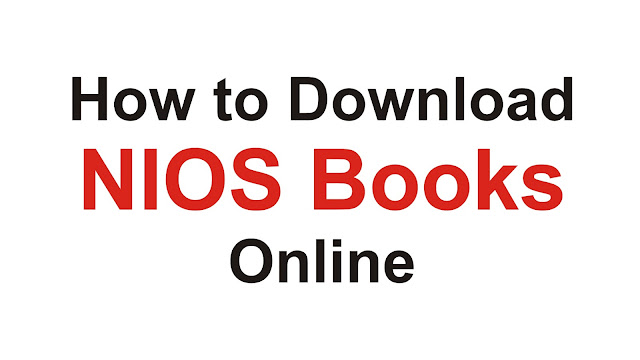 How to Download NIOS Books Online