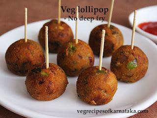 Veg lollipop recipe in Kannada