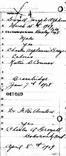 Birth registration of Joseph Grozelle 1909