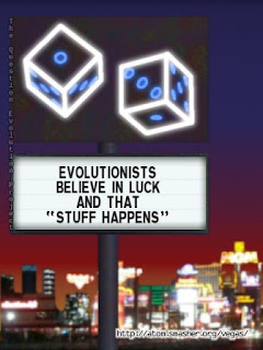 Evolutionists believe in luck. While ignorant internet evolutionists ridicule creationists for the animal rafting concept, they use it too. And luck.
