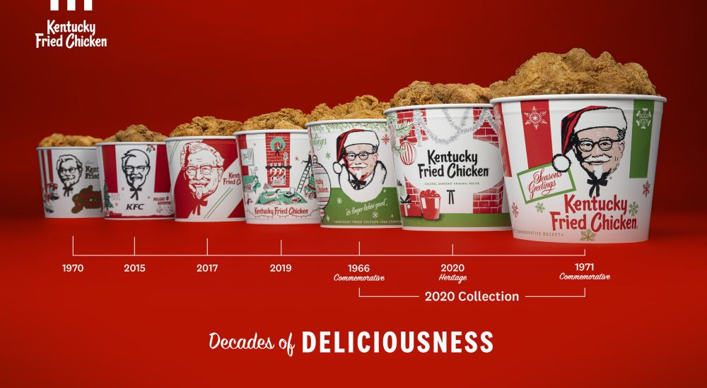 KFC Goes Vintage for 2020 Holiday Bucket Designs | Brand ...