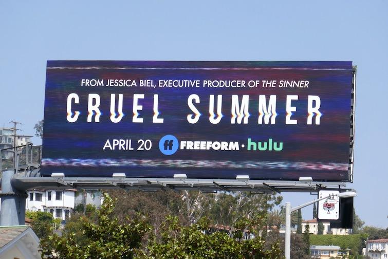 Cruel Summer series launch billboard