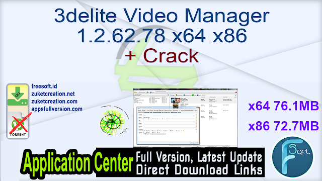 3delite Video Manager 1.2.62.78 x64 x86 + Crack