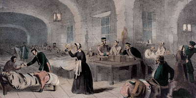 Florence Nightingale in the Military Hospital   at Scutari, 1855 (c) National Army Museum