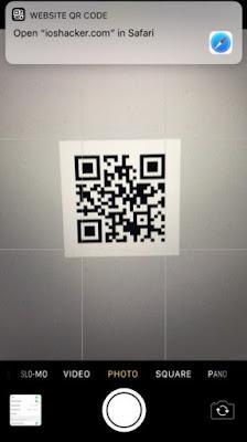 Pemindai Kode QR pada Kamera iPhone