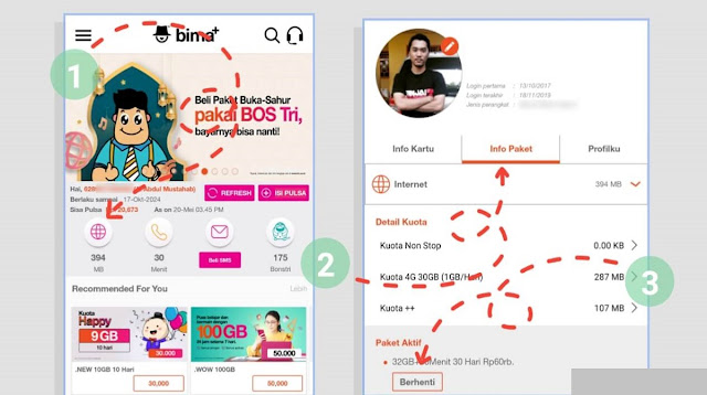 Cara Stop Paket Unlimited Chat Harian Tri