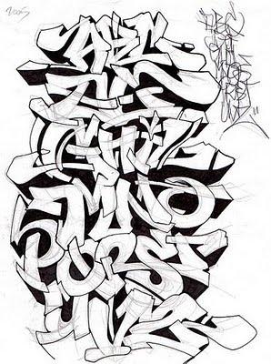 .: Alfabetos de Graffiti