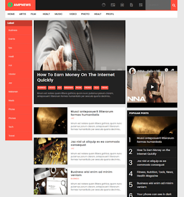 AMPNEWS Best Free AMP Blogger Template