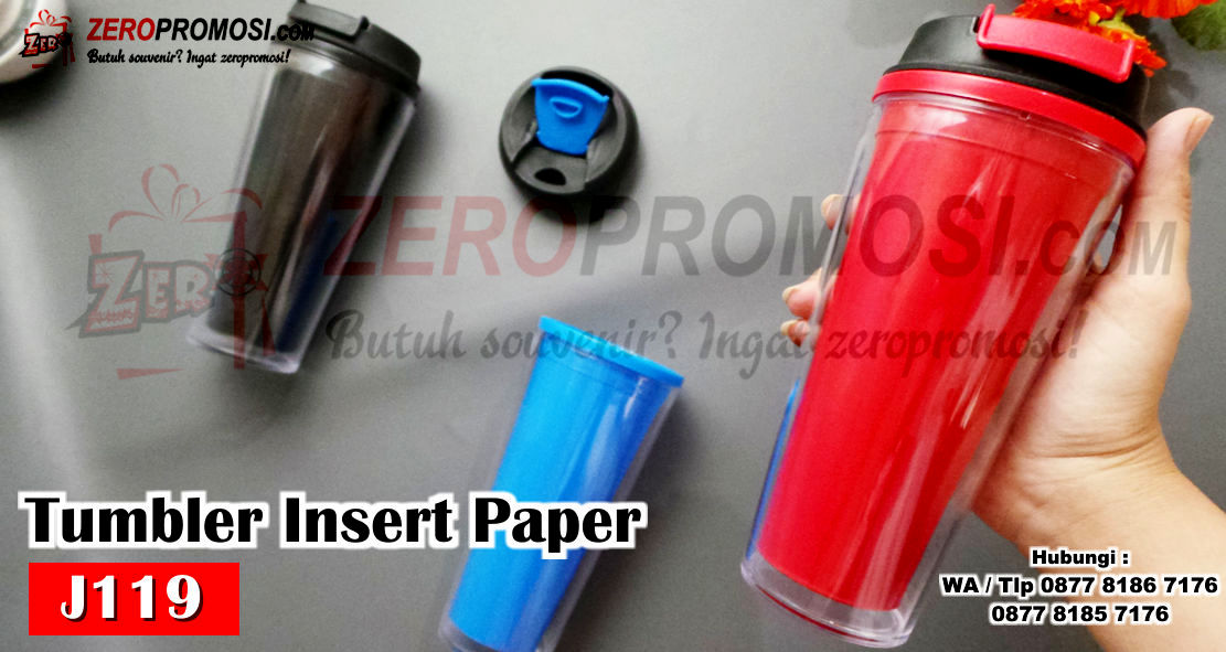 Souvenir Tumbler J119 Insert Paper, Jual Souvenir Tumbler Insert Paper Full Colour Kode J119