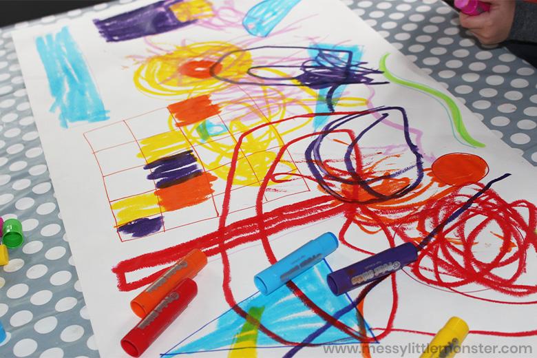 Kandinsky process art for kids