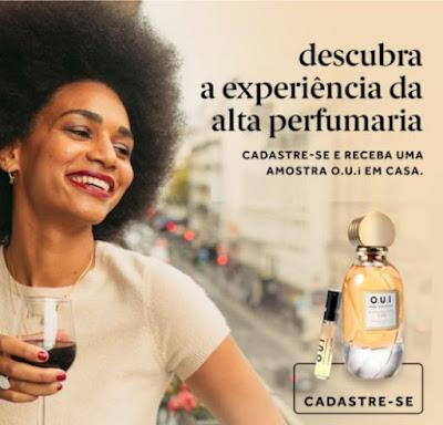 Amostra Grátis de Perfume O.U.i Paris do Grupo Boticário