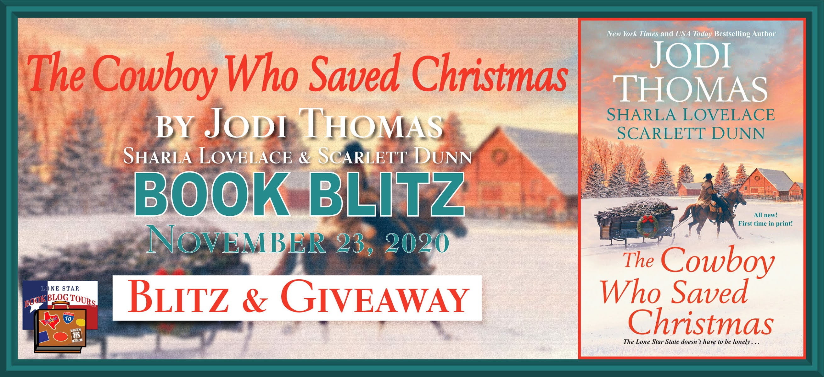 The Cowboy Who Saved Christmas book blog tour promotion banner
