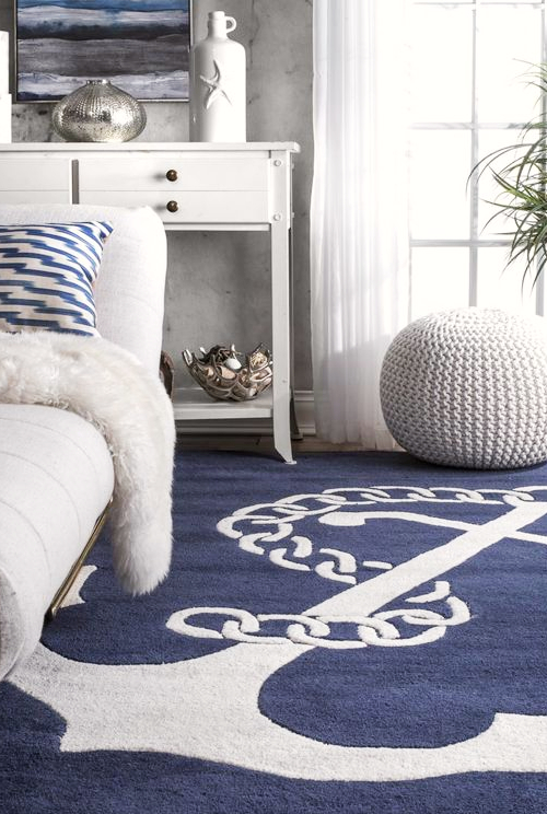 Blue Anchor Rug