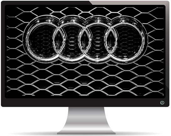 Sigle Audi Chrome - Fond d'écran en Ultra HD 4K 2160p