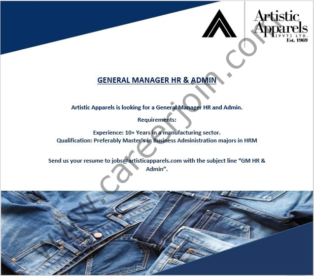 Artistic Apparels Pvt Ltd Jobs 2021 in Pakistan