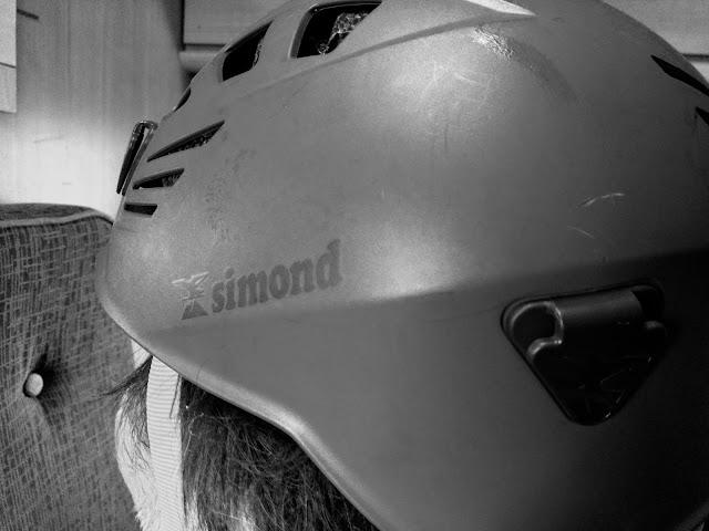 Simond's climbing helmet