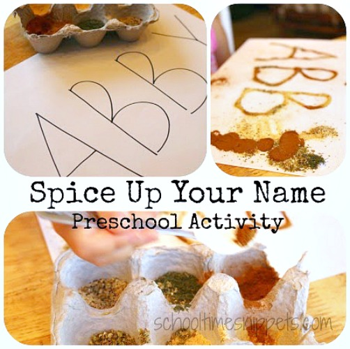 five senses preschool name activity