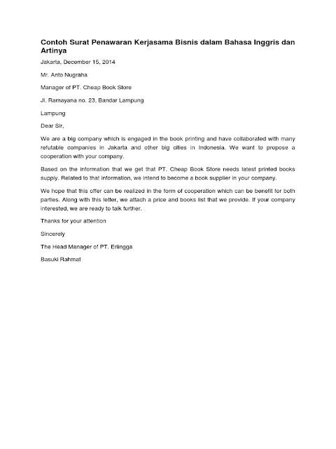 Contoh Surat Penawaran Dalam Bahasa Inggris (via: contohsuratmenyuratku.com)