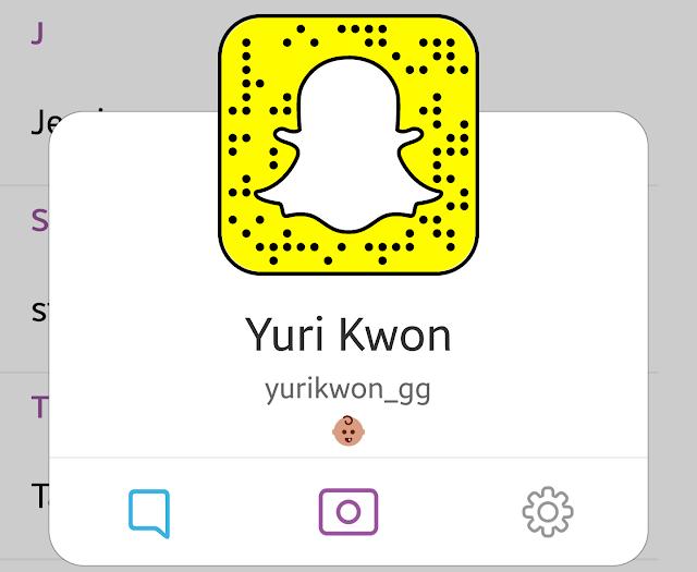 SNSD Yuri Snapchat