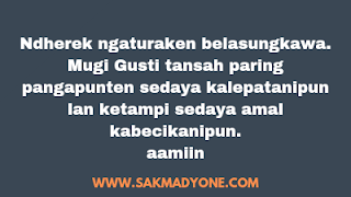 Ucapan Belasungkawa Bahasa Jawa