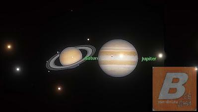 Великое соединение Юпитера и Сатурна 21 декабря 2020