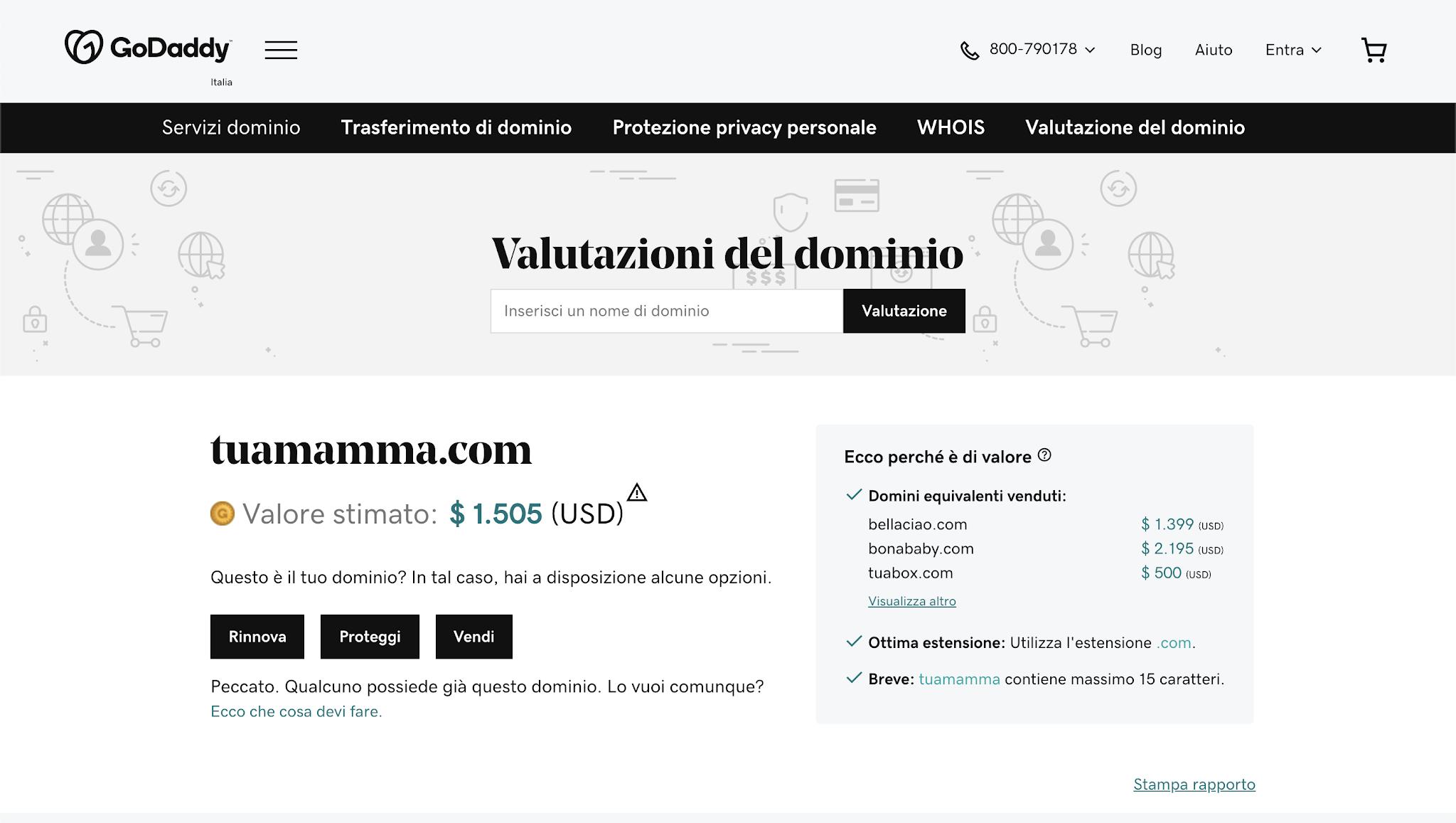 Come valutare un dominio web
