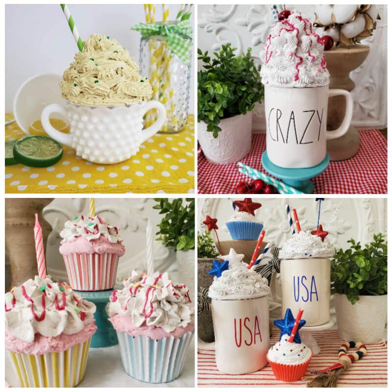 faux whip desserts