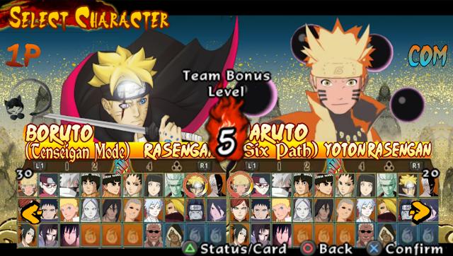 Naruto Shippuden Ultimate Ninja Storm Legacy PPSSPP ISO