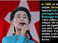 Menagih Janji Jenderal Aung San (Bapaknya Aung San Suu Kyi) Kepada Muslim Rohingya