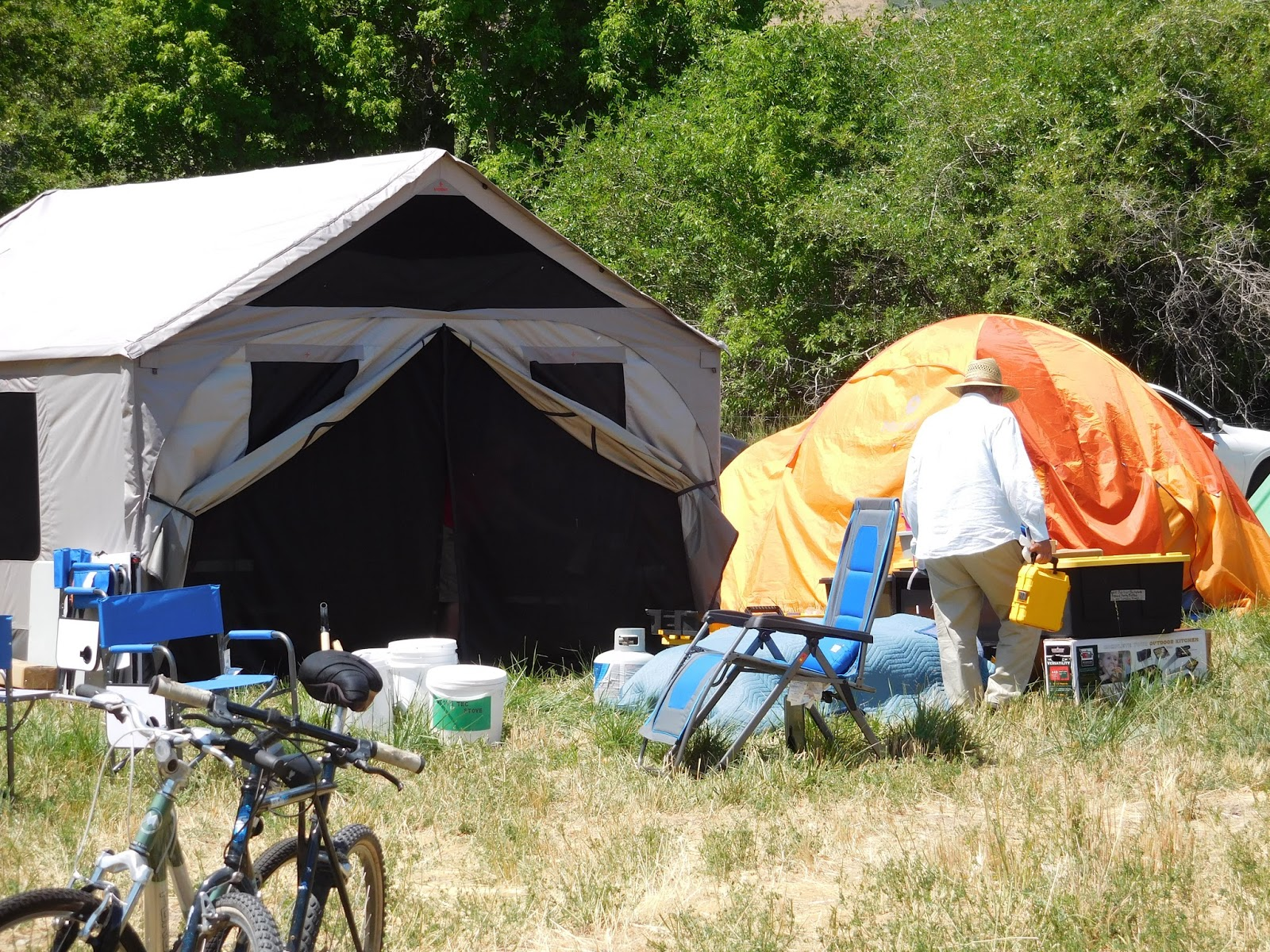 There were tents of all kinds and sizes in c& and few motorhomes. The tent in this picture is a Barebones tent...not the orange one. & Fermenting in Utah: Preparedness Campout 2016 at the Tifie Ranch ...