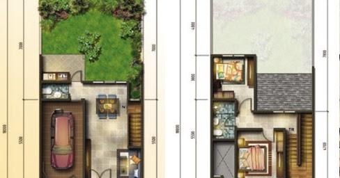 lingkar warna: denah rumah minimalis ukuran 7x18 meter 2