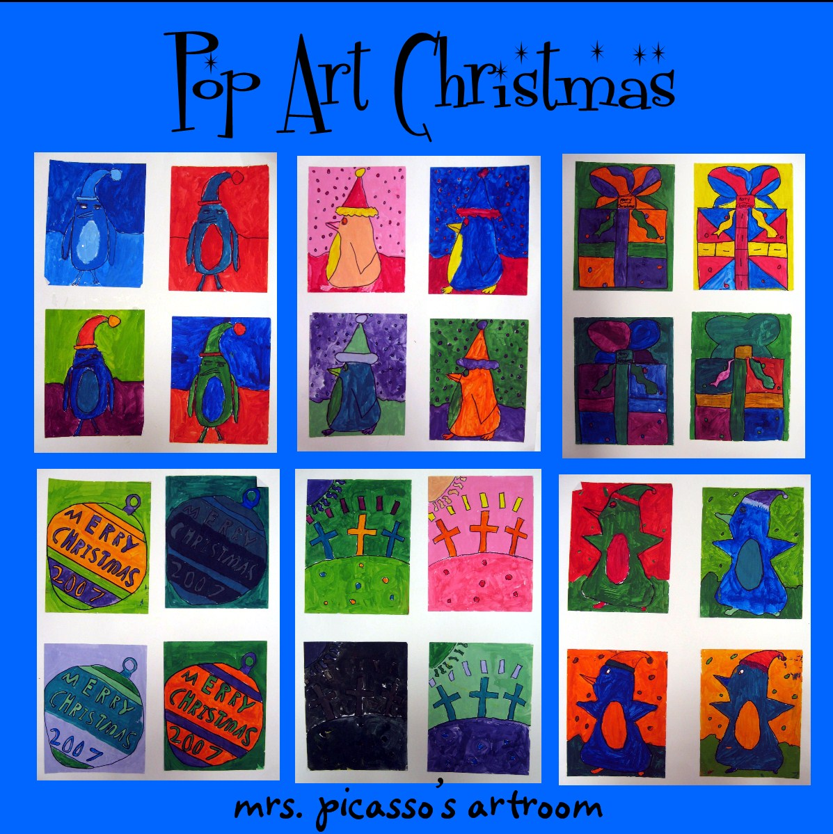 Mrspicasso S Art Room 12 Days Of Christmas Projects