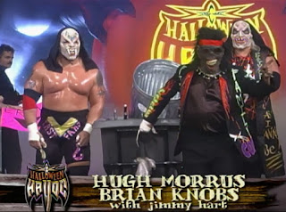 WCW Halloween Havoc 1998 - Hugh Morrus, Brian Knobs and Jimmy Hart of The First Family