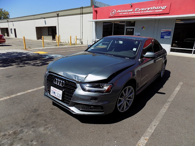 2016 Audi A4 before collision repair at Almost Everything Auto Body.
