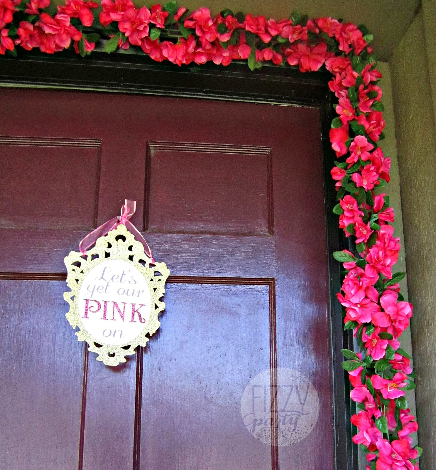 Pink party entrance
